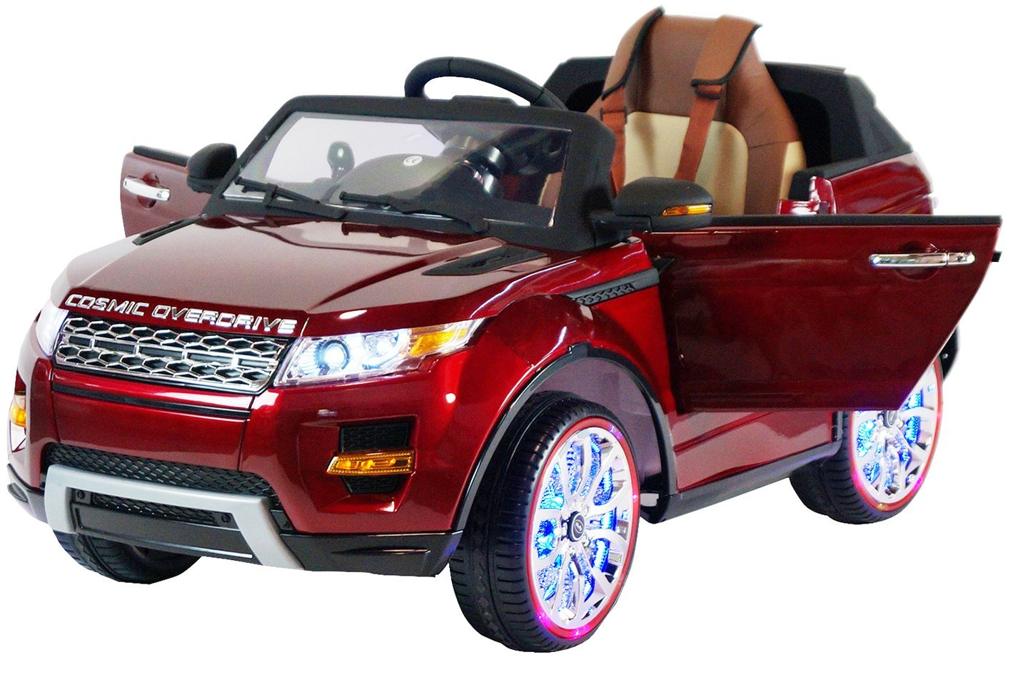 Range Rover Ride On With Remote Control LED Lights Color LCD Leather Seat