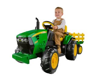 Peg Perego John Deere Ground Force Tractor with Trailer by Peg Perego